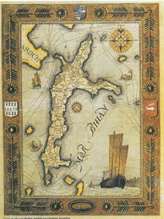 carte-de-l'ile-aux-moines-dessinee-par-christian-nouvellon reproduction interdite