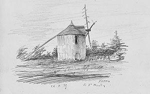 le-moulin-de-kerno-ile-aux-moines-dessin-georges-david